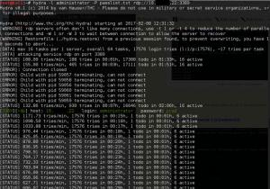 Cracking an RDP password using Crunch and Hydra – Auke Zwaan